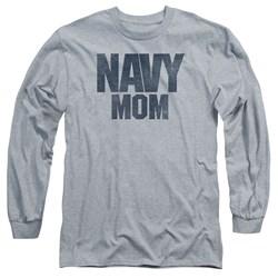 Navy - Mens Navy Mom Long Sleeve T-Shirt