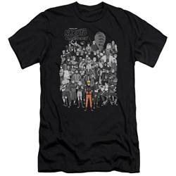 Naruto - Mens Characters Premium Slim Fit T-Shirt