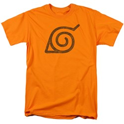 Naruto Shippuden - Mens Distressed Leaves Symbol T-Shirt