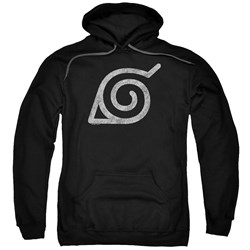Naruto Shippuden - Mens Distressed Leaves Symbol Pullover Hoodie