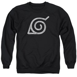 Naruto Shippuden - Mens Distressed Leaves Symbol Sweater