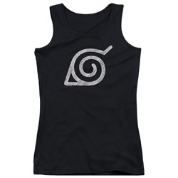 Naruto Shippuden - Juniors Distressed Leaves Symbol Tank Top