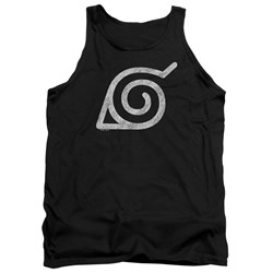 Naruto Shippuden - Mens Distressed Leaves Symbol Tank Top