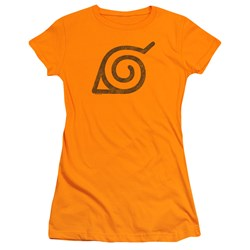 Naruto Shippuden - Juniors Distressed Leaves Symbol T-Shirt