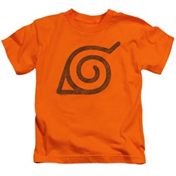 Naruto Shippuden - Youth Distressed Leaves Symbol T-Shirt