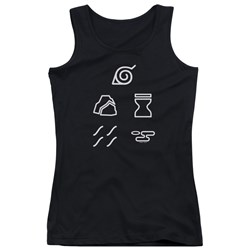 Naruto Shippuden - Juniors Village Symbols Tank Top