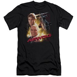 Airwolf - Mens Airwolf Premium Slim Fit T-Shirt