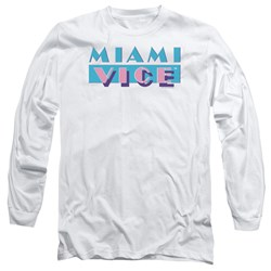 Miami Vice - Mens Logo Long Sleeve T-Shirt