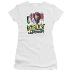 Saved By The Bell - Juniors I Love Kelly Premium Bella T-Shirt