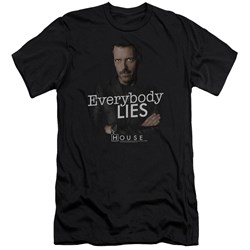 House - Mens Everybody Lies Premium Slim Fit T-Shirt
