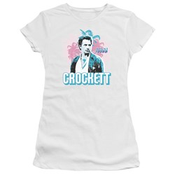 Miami Vice - Juniors Crockett Premium Bella T-Shirt