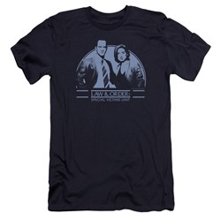 Law Order Svu - Mens Elliot And Olivia Premium Slim Fit T-Shirt
