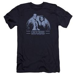 Law Order Svu - Mens Elliot And Olivia Premium Slim Fit T-Shirt