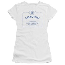 Warehouse 13 - Juniors Now Leaving Univille Premium Bella T-Shirt