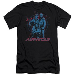 Airwolf - Mens Graphic Premium Slim Fit T-Shirt