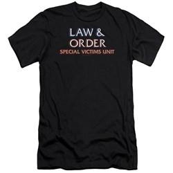 Law And Order Svu - Mens Logo Premium Slim Fit T-Shirt