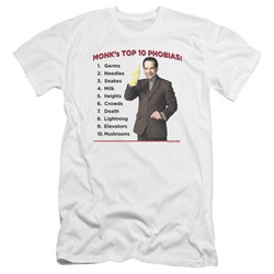 Monk - Mens Top 10 Phobias Premium Slim Fit T-Shirt