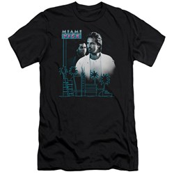 Miami Vice - Mens Looking Out Premium Slim Fit T-Shirt