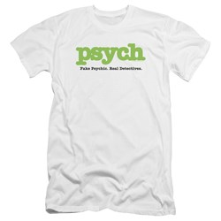 Psych - Mens Title Premium Slim Fit T-Shirt