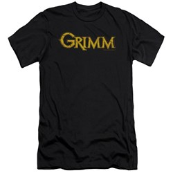 Grimm - Mens Gold Logo Premium Slim Fit T-Shirt
