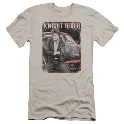 Knight Rider - Mens Knight And Kitt Premium Slim Fit T-Shirt