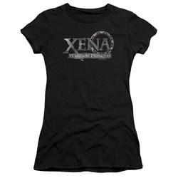 Xena - Juniors Battered Logo Premium Bella T-Shirt