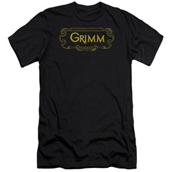Grimm - Mens Plaque Logo Premium Slim Fit T-Shirt