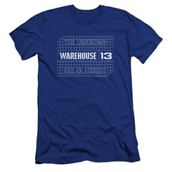 Warehouse 13 - Mens Blueprint Logo Premium Slim Fit T-Shirt