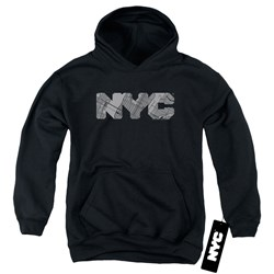New York City - Youth Nyc Map Fill Pullover Hoodie