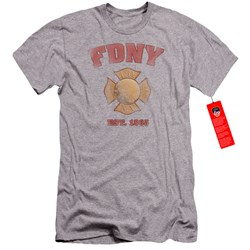 New York City - Mens Fdny Vintage Badge Premium Slim Fit T-Shirt