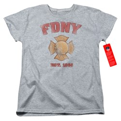 New York City - Womens Fdny Vintage Badge T-Shirt