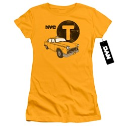 New York City - Juniors Yellow Cab T-Shirt