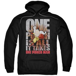 One Punch Man - Mens One Punch Is All It Takes Pullover Hoodie