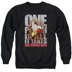 One Punch Man - Mens One Punch Is All It Takes Sweater