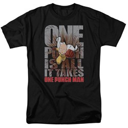 One Punch Man - Mens One Punch Is All It Takes T-Shirt