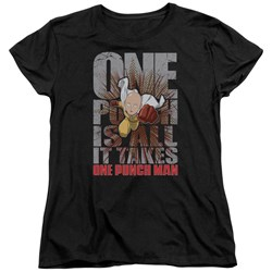 One Punch Man - Womens One Punch Is All It Takes T-Shirt