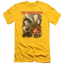 One Punch Man - Mens Saitama And Genos Slim Fit T-Shirt