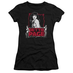 Bettie Page - Juniors Bettie Scary Hot Premium Bella T-Shirt