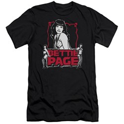 Bettie Page - Mens Bettie Scary Hot Premium Slim Fit T-Shirt