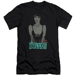 Bettie Page - Mens Hello Premium Slim Fit T-Shirt