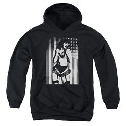 Bettie Page - Youth Stark Flag Pullover Hoodie