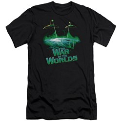 War Worlds - Mens Global Attack Premium Slim Fit T-Shirt