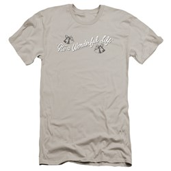 Its A Wonderful Life - Mens Logo Premium Slim Fit T-Shirt