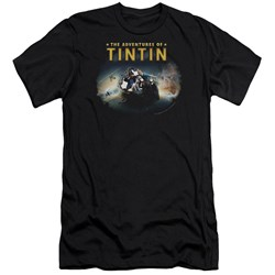 Tintin - Mens Journey Premium Slim Fit T-Shirt