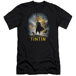 Tintin - Mens Poster Premium Slim Fit T-Shirt