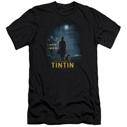 Tintin - Mens Title Poster Premium Slim Fit T-Shirt