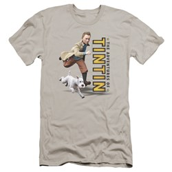 Tintin - Mens Come On Snowy Premium Slim Fit T-Shirt