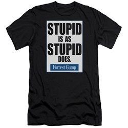 Forrest Gump - Mens Stupid Is Premium Slim Fit T-Shirt