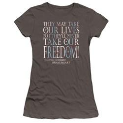 Braveheart - Juniors Freedom Premium Bella T-Shirt