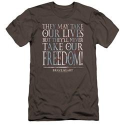 Braveheart - Mens Freedom Premium Slim Fit T-Shirt